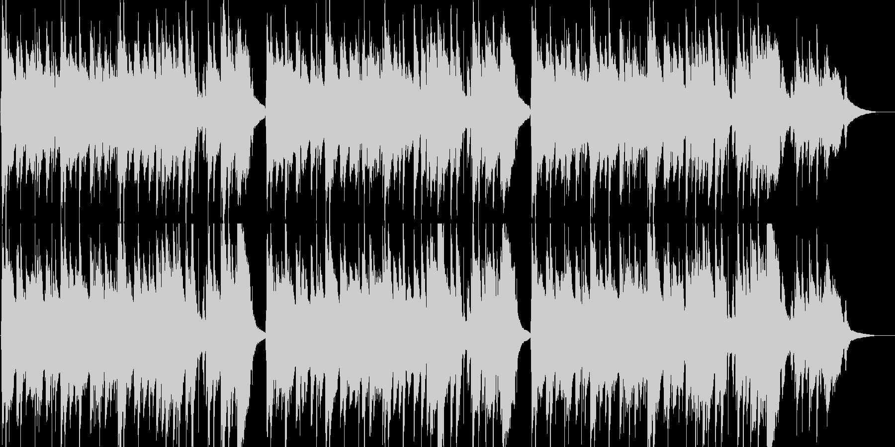 優しくて切ないアコースティックギター曲の未再生の波形