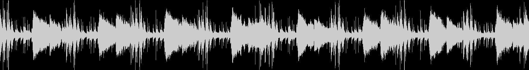 潜入、コソコソした場面のBGM(ループ)の未再生の波形