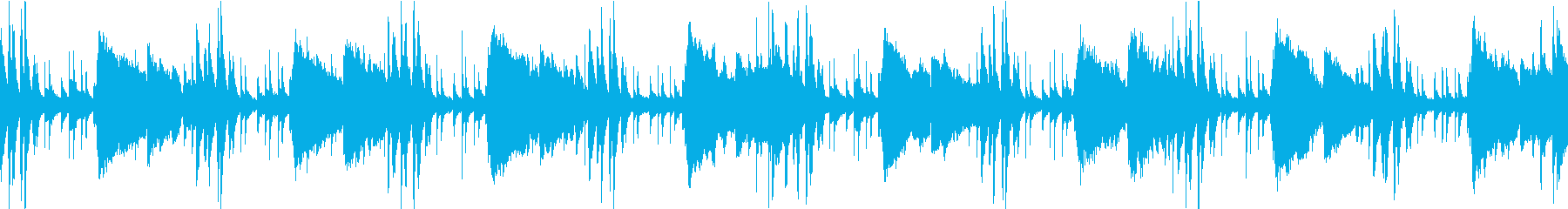 潜入、コソコソした場面のBGM(ループ)の再生済みの波形
