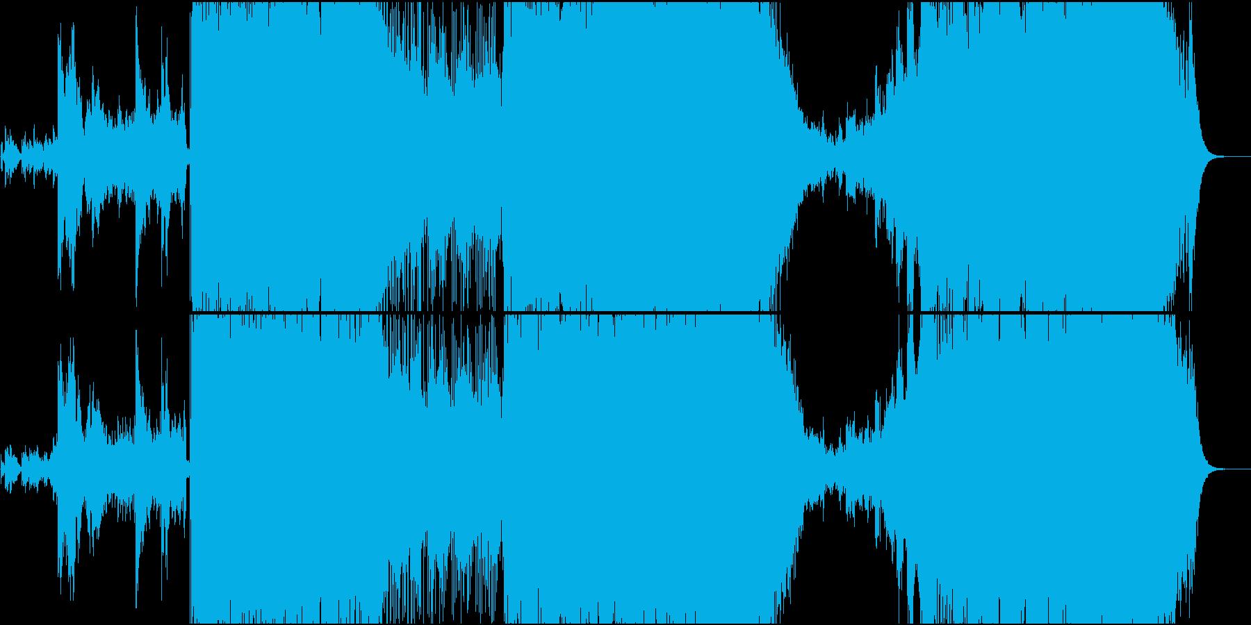 唸るベース!ミクスチャーロックの再生済みの波形