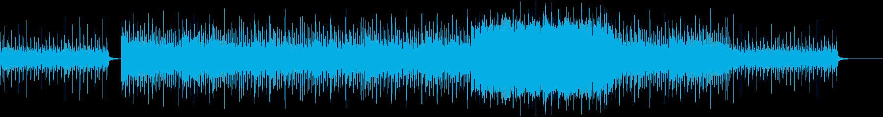 ストリングスがある元気な4つ打ちポップスの再生済みの波形