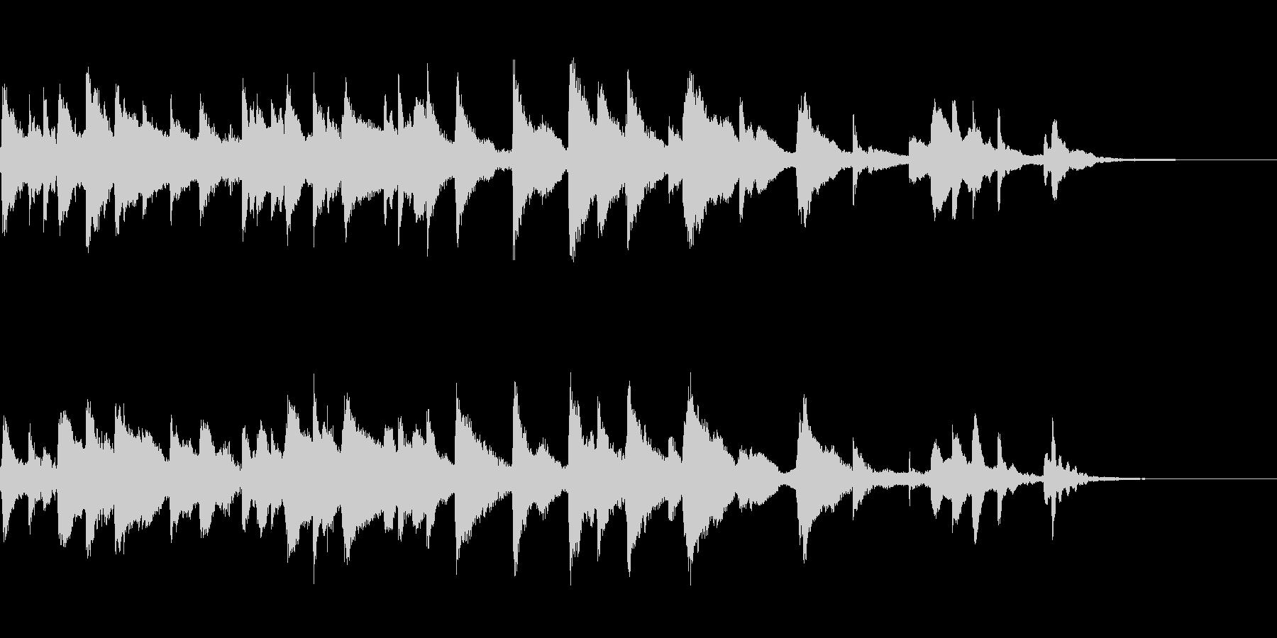 しっとりとした短めのハープ曲ですの未再生の波形