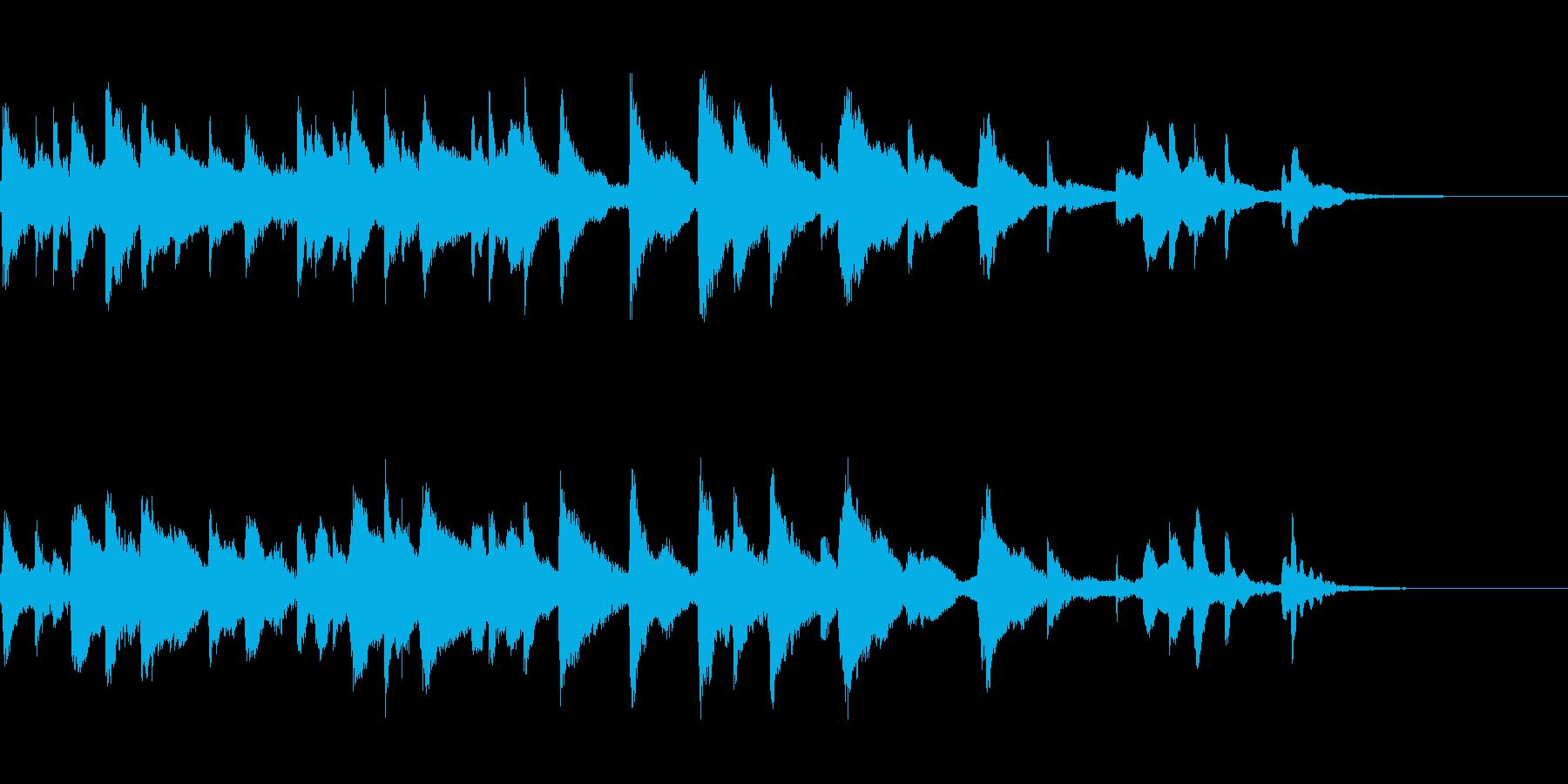 しっとりとした短めのハープ曲ですの再生済みの波形