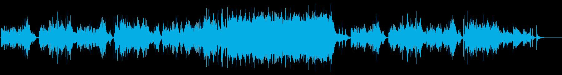 幻想的でドラマチックなピアノ曲の再生済みの波形
