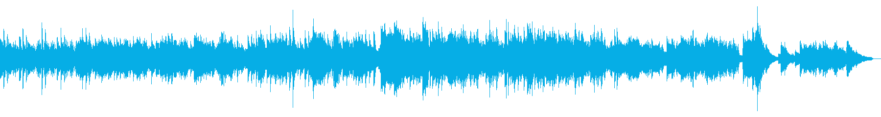 Bright and refreshing romance song (piano solo)'s reproduced waveform