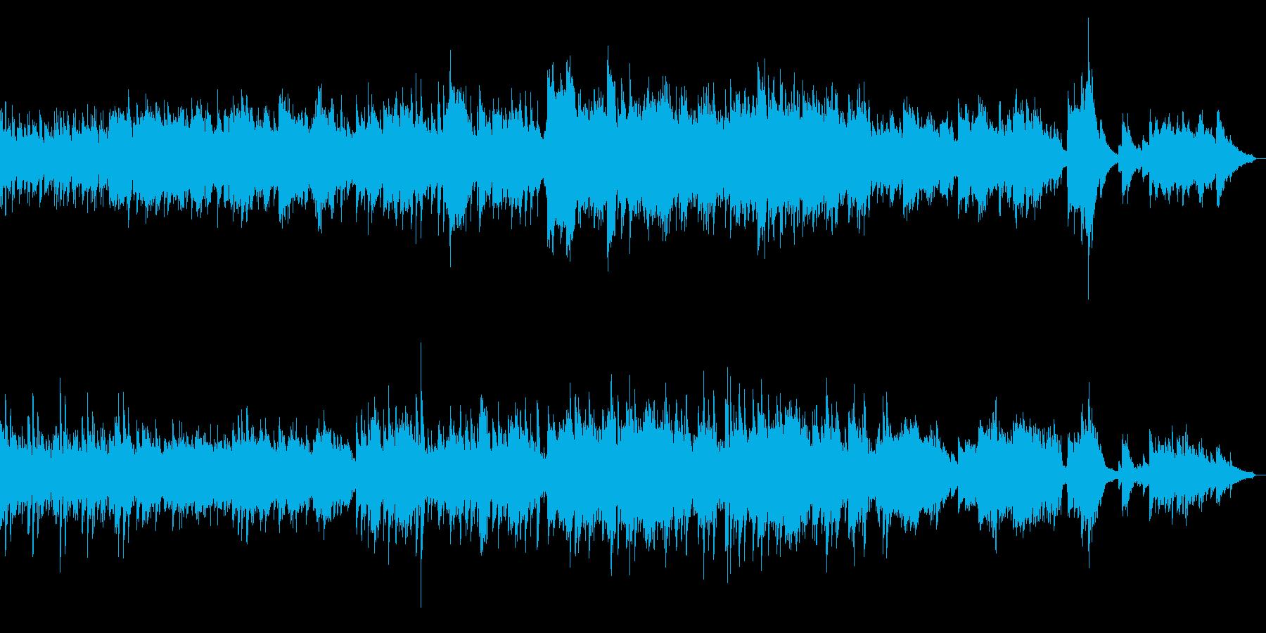 明るく爽やかなロマンス楽曲(ピアノソロ)の再生済みの波形