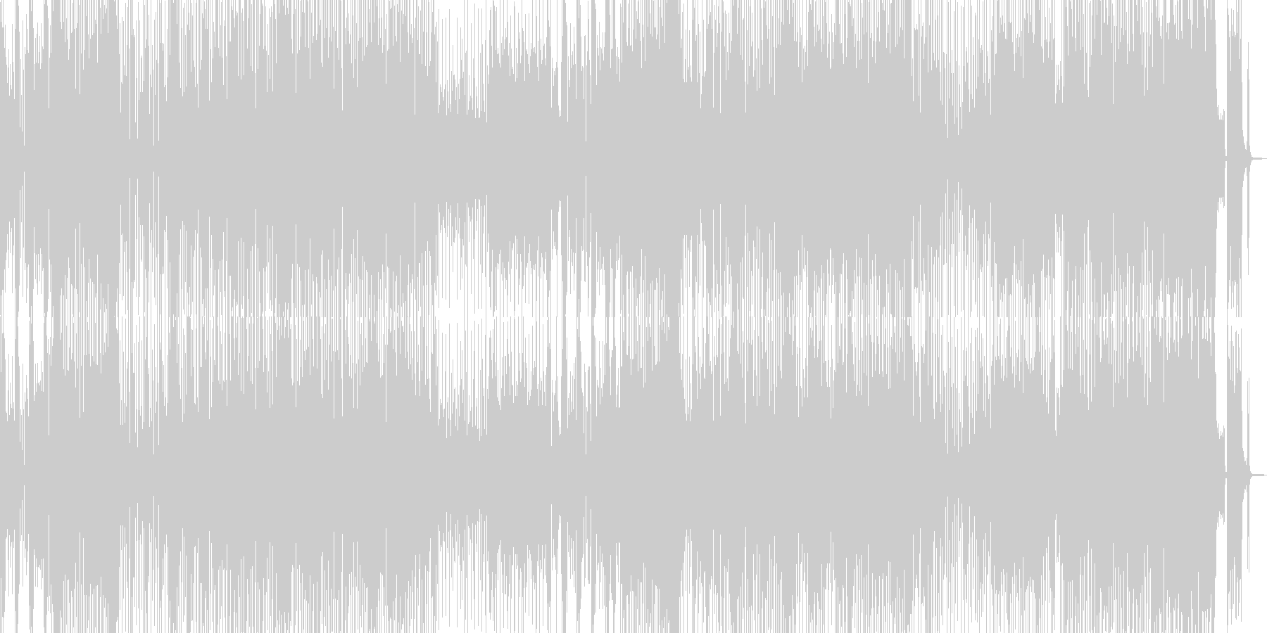 ツーリング日和・軽快なトランペットジャズの未再生の波形