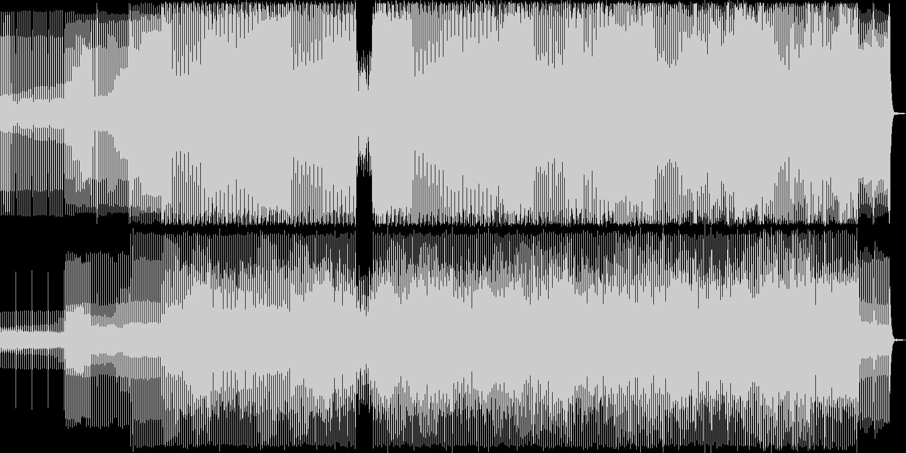 3拍子の民族調ミニマル曲・ダンスの未再生の波形