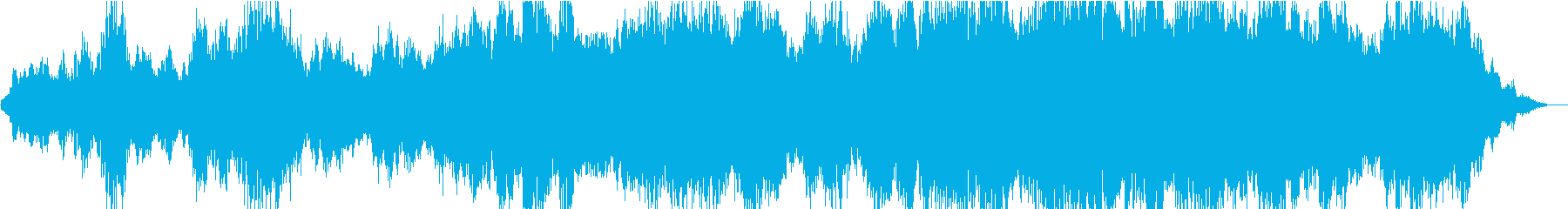 広大な大地を演出するオーケストラの再生済みの波形
