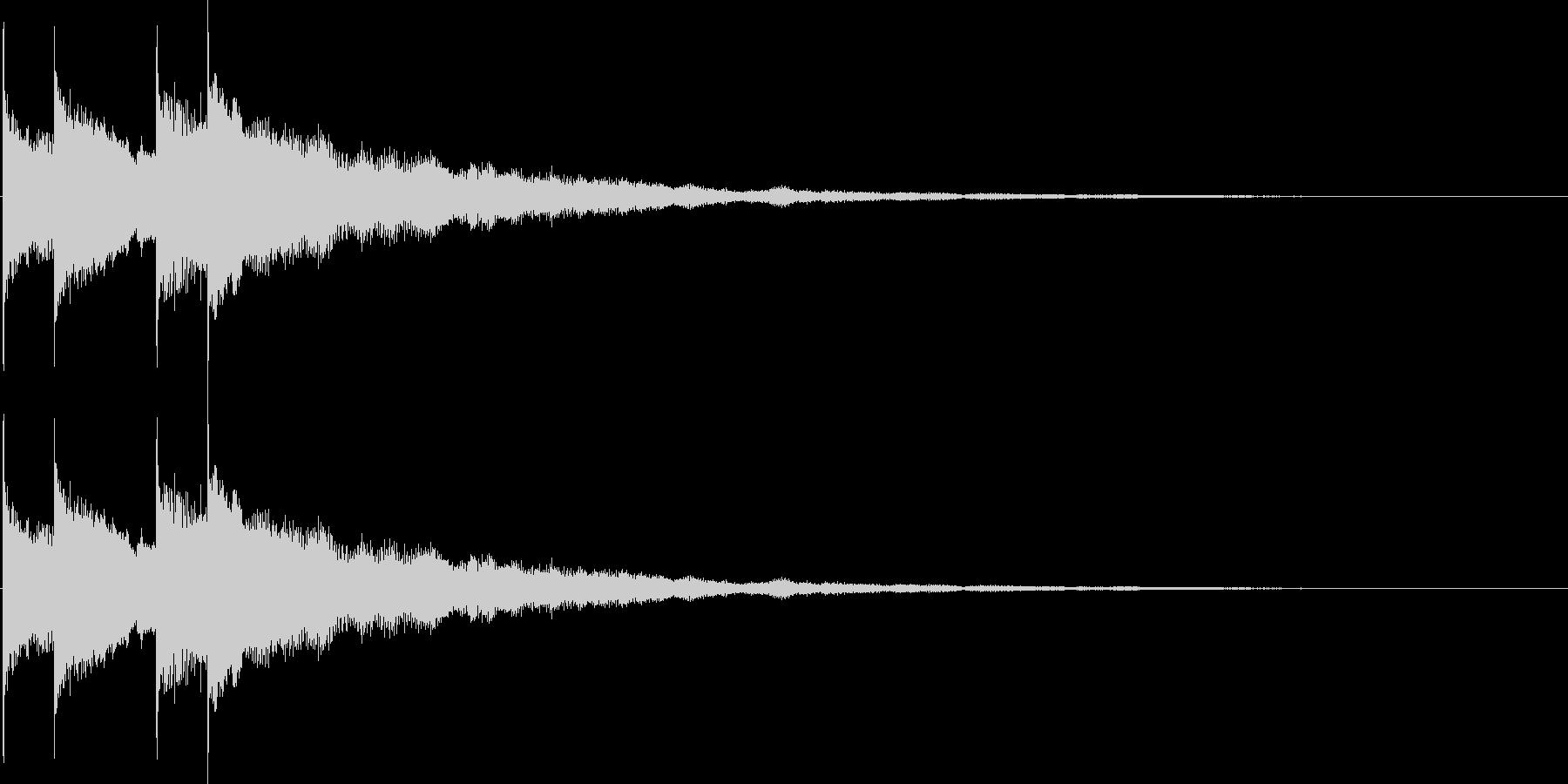 女子力アップの音の未再生の波形