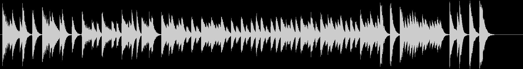 童謡・雪モチーフの冬のピアノジングルCの未再生の波形