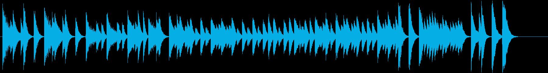 童謡・雪モチーフの冬のピアノジングルCの再生済みの波形