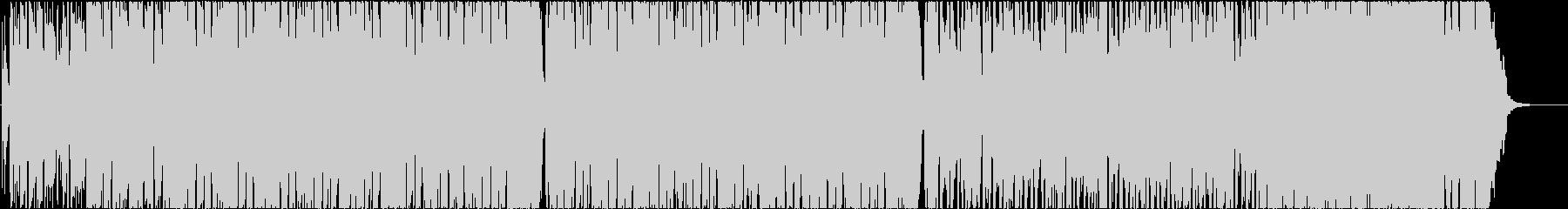ギターメインの怪しげなダークロックジャムの未再生の波形