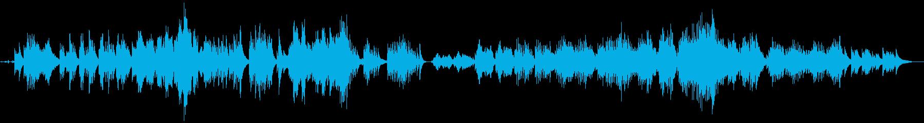 「ピアノ主旋律の癒し系楽曲」の再生済みの波形