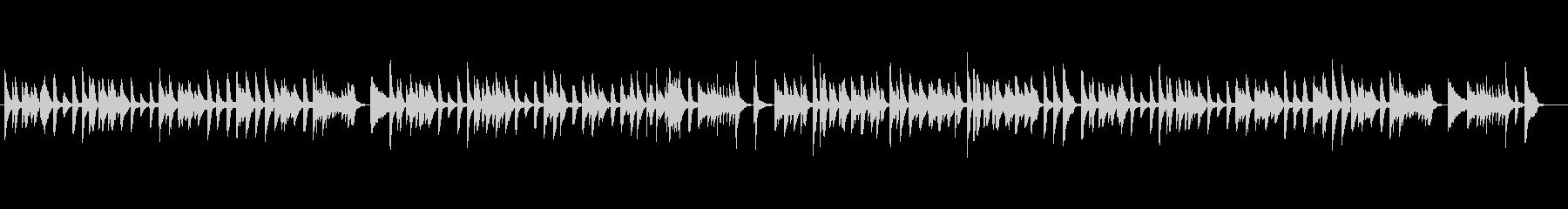 古き時代を懐かしむラグタイムソロピアノの未再生の波形