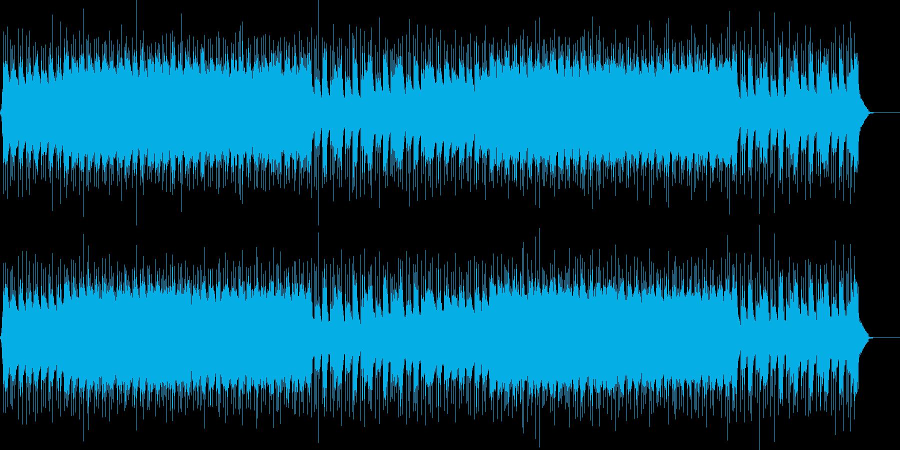 パワフルなギターのハードロックの再生済みの波形