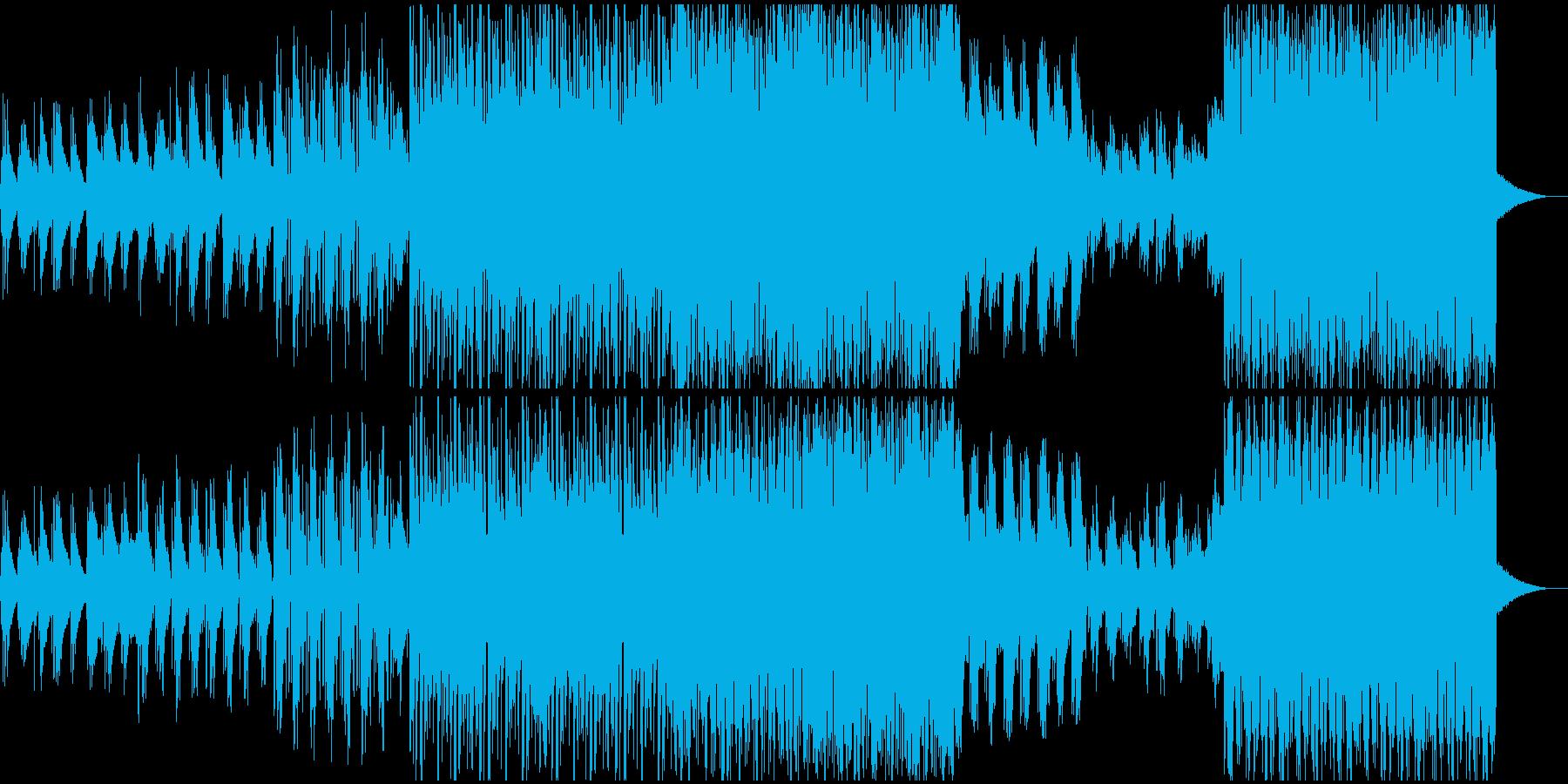 アコギの爽やかなボッサ、ジャジーハウスの再生済みの波形