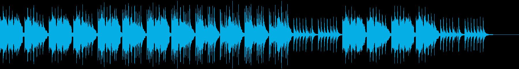 幽玄な雰囲気の和風BGMの再生済みの波形