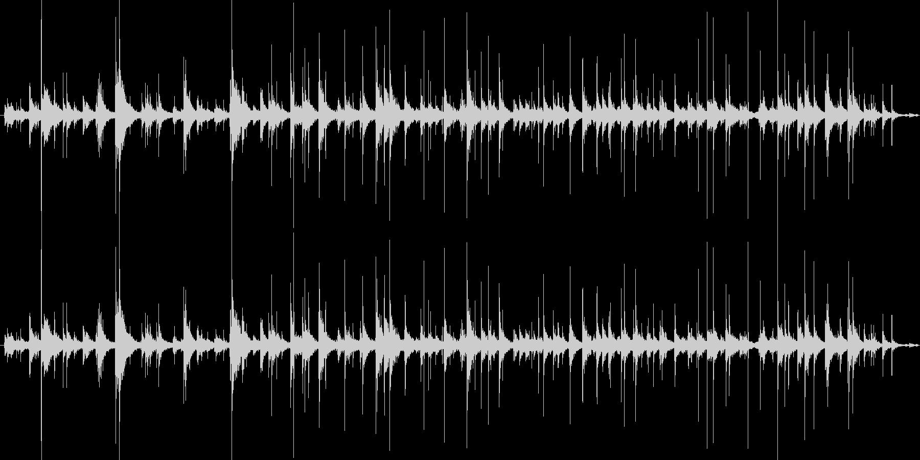 水滴の垂れる音の未再生の波形