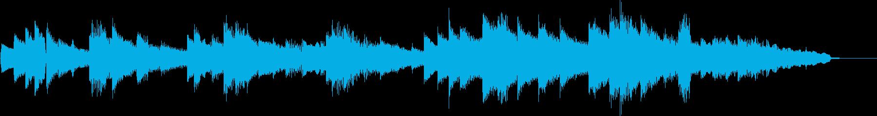 静かで落ち着くキーボード曲の再生済みの波形