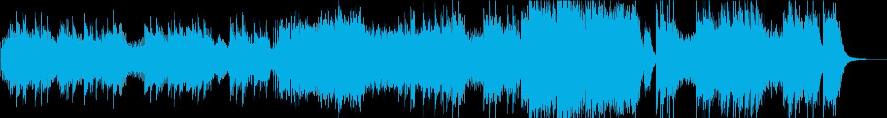 ピアノ曲を神秘的なシンセ音で演奏の再生済みの波形