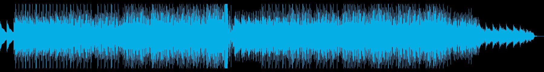 左右に広がるピアノが美しいBGMの再生済みの波形
