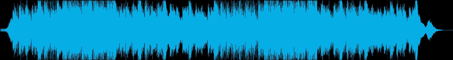 宇宙のようなアンビエントミュージックの再生済みの波形