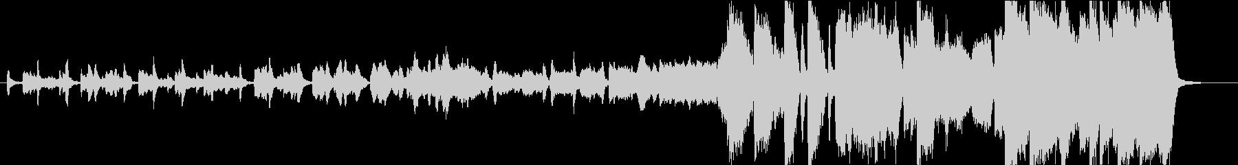 後半盛り上がる管弦楽曲の未再生の波形
