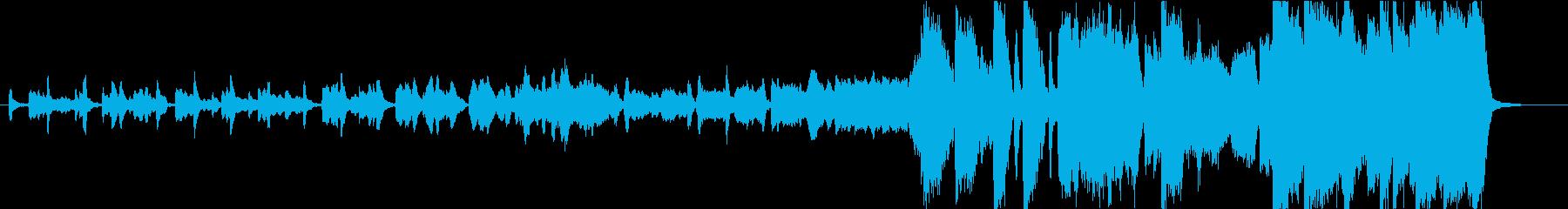 後半盛り上がる管弦楽曲の再生済みの波形