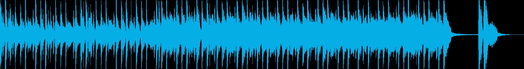 シンセとドラムによる軽快な曲の再生済みの波形