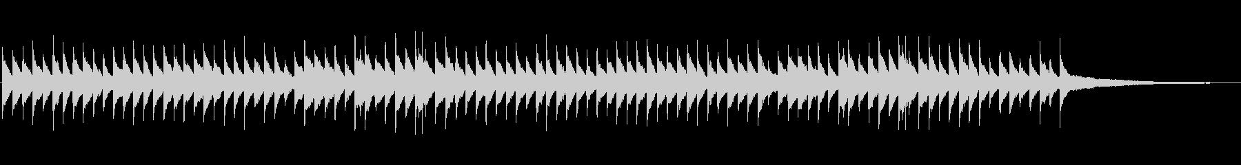 懐かしい思い出の回想シーン ピアノ+風鈴の未再生の波形