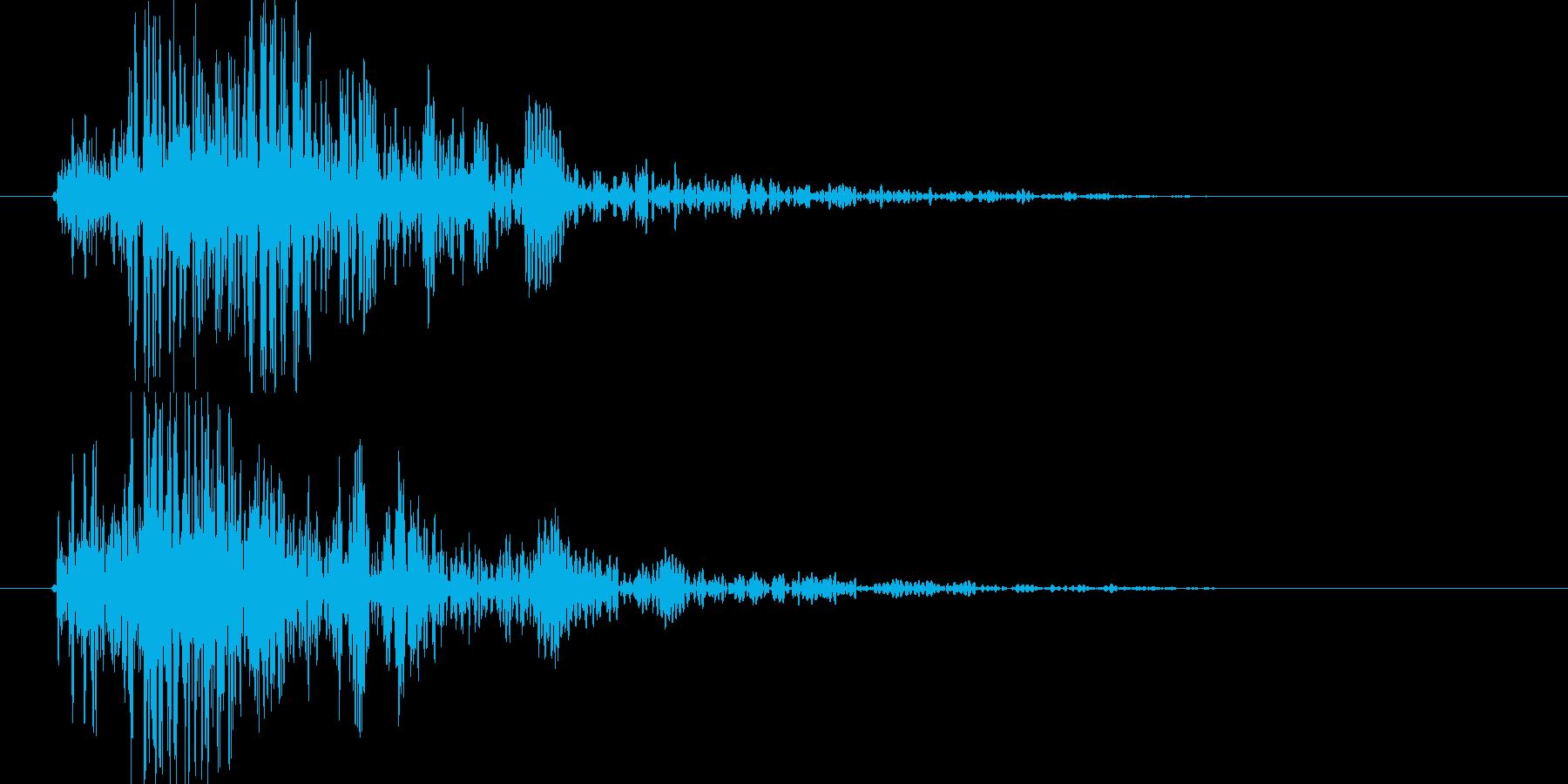 振る/弓/スイング/斬る(ヒュン、ヒュッの再生済みの波形