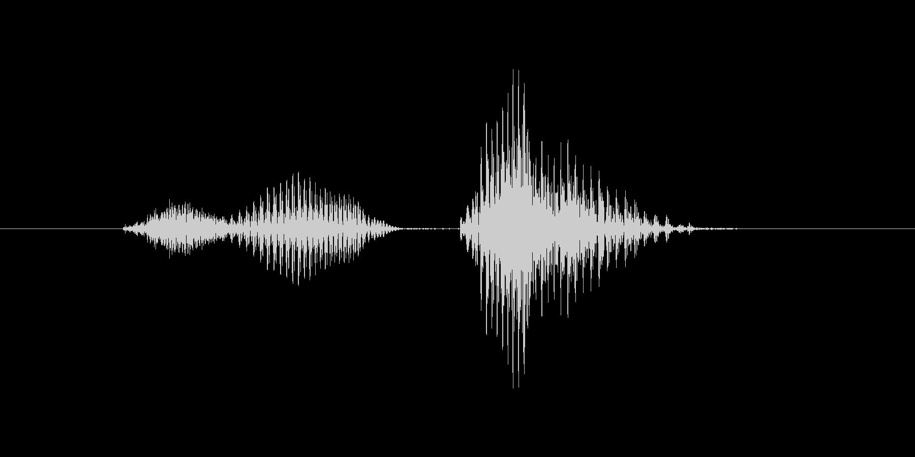 ツーペアの未再生の波形