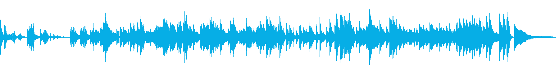 浜辺の歌 ソロジャズピアノ生演奏 テーマの再生済みの波形