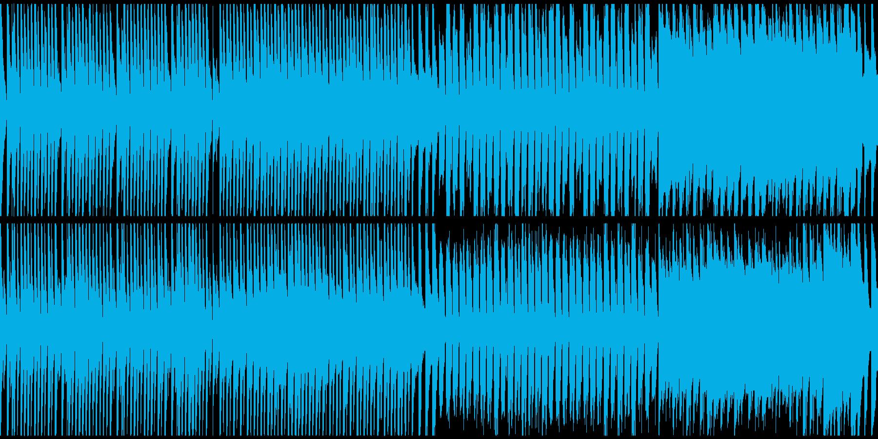 マリンバとリコーダーによる朗らかなループの再生済みの波形
