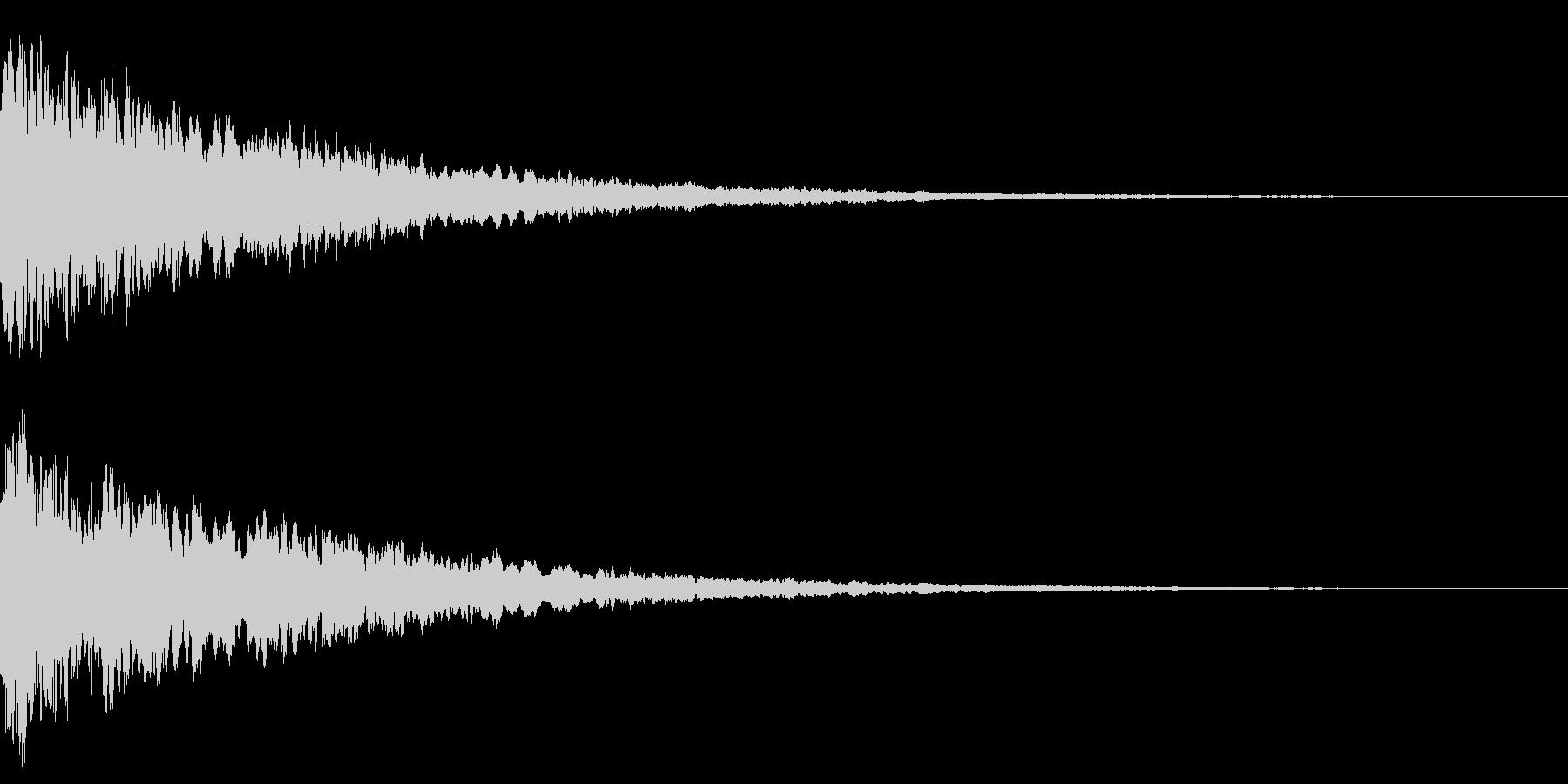 上昇音と共に鳴るキュイーンの未再生の波形