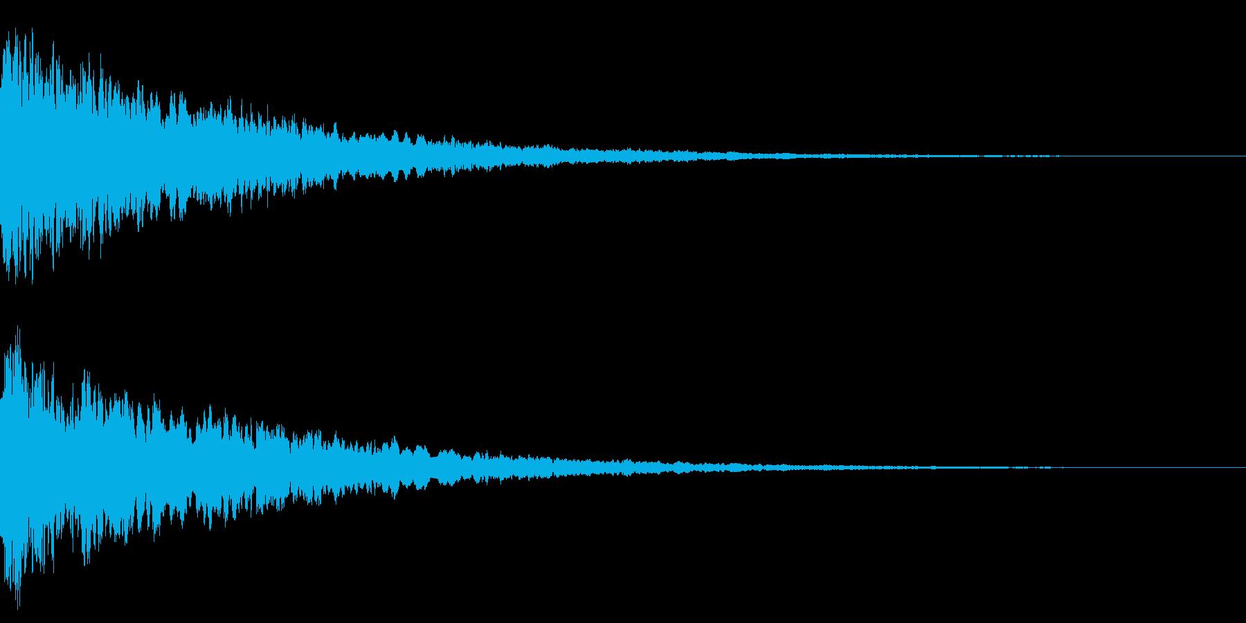 上昇音と共に鳴るキュイーンの再生済みの波形