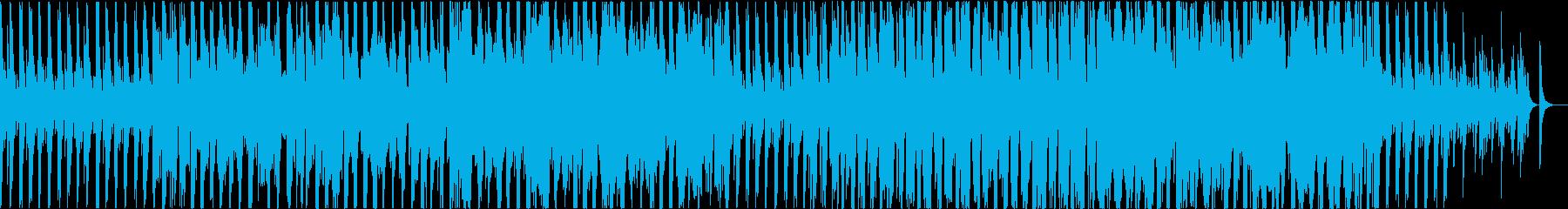 ほんわかと探検している気分になる曲の再生済みの波形