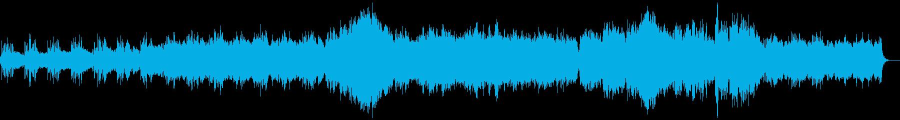 夜明けの澄んだ空気をイメージしたBGMの再生済みの波形