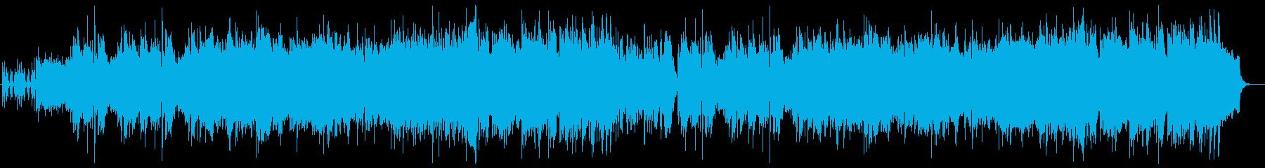 悠々としたシンセサイザーピアノサウンドの再生済みの波形
