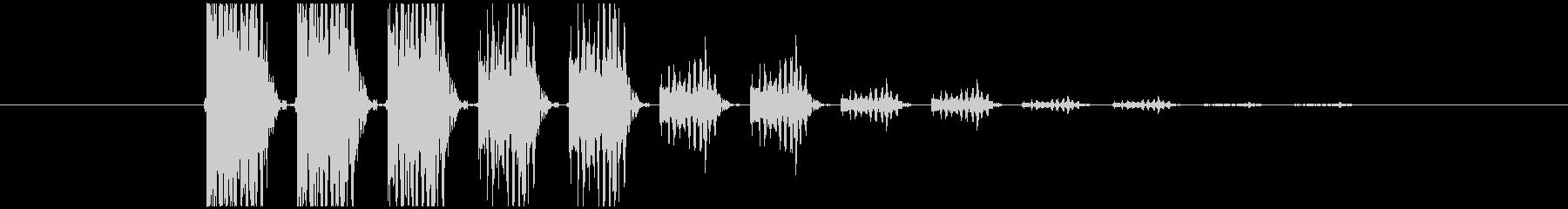 ジャジャジャ(ホラー・ゲーム)の未再生の波形
