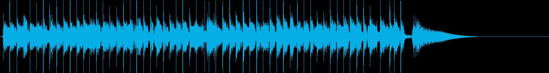 生演奏のスウィングジャズ風ジングルの再生済みの波形
