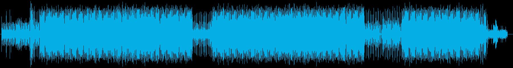 アップテンポなテクノBGMの再生済みの波形