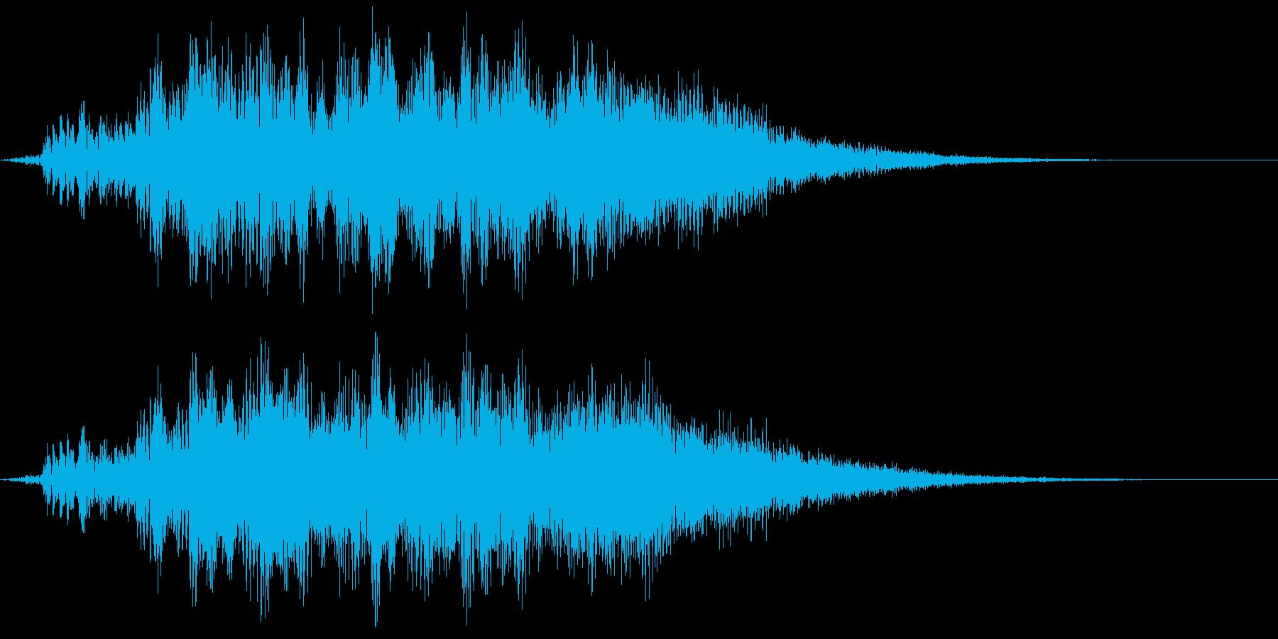 【ホラー演出】シーン転換 過去の記憶の再生済みの波形
