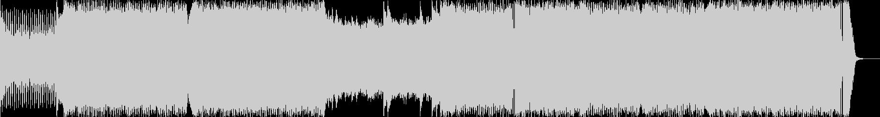 疾走感のあるエレクトロニカ(電子音楽)の未再生の波形