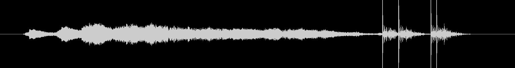 花火 ドンドン ドドン ヒューの未再生の波形