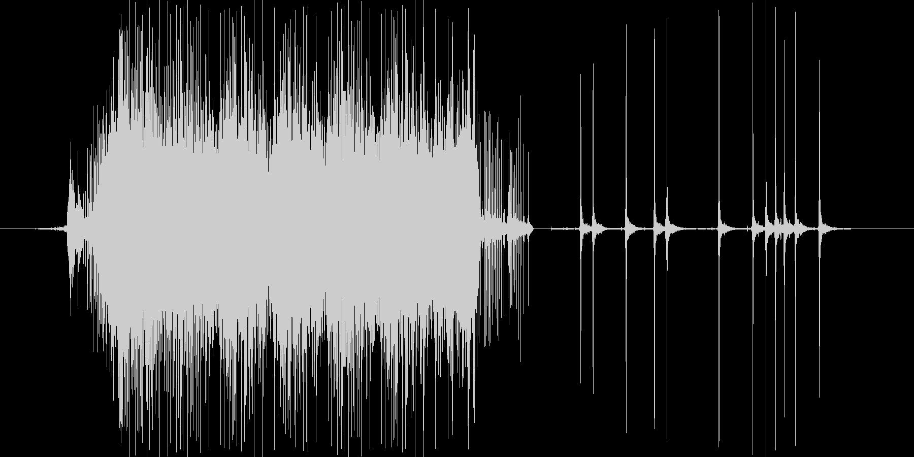 釣りのリールの音の未再生の波形