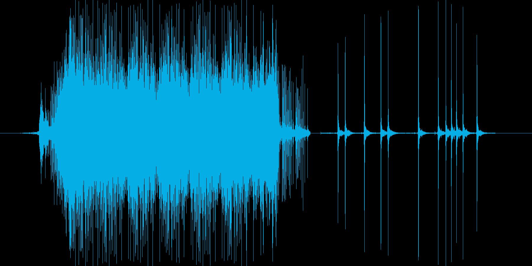 釣りのリールの音の再生済みの波形