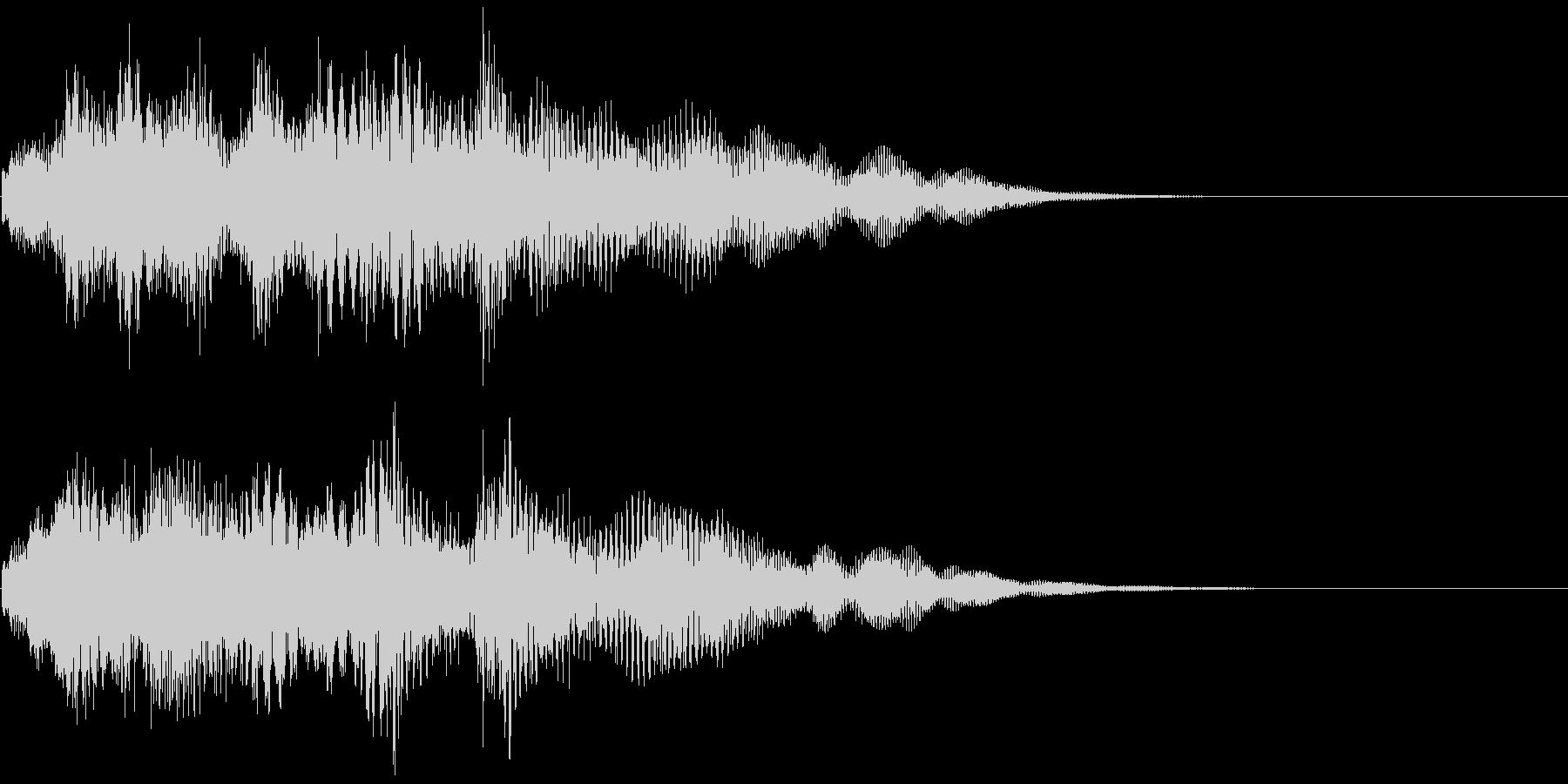 優しいチャイムお知らせタイトル ロゴ音9の未再生の波形