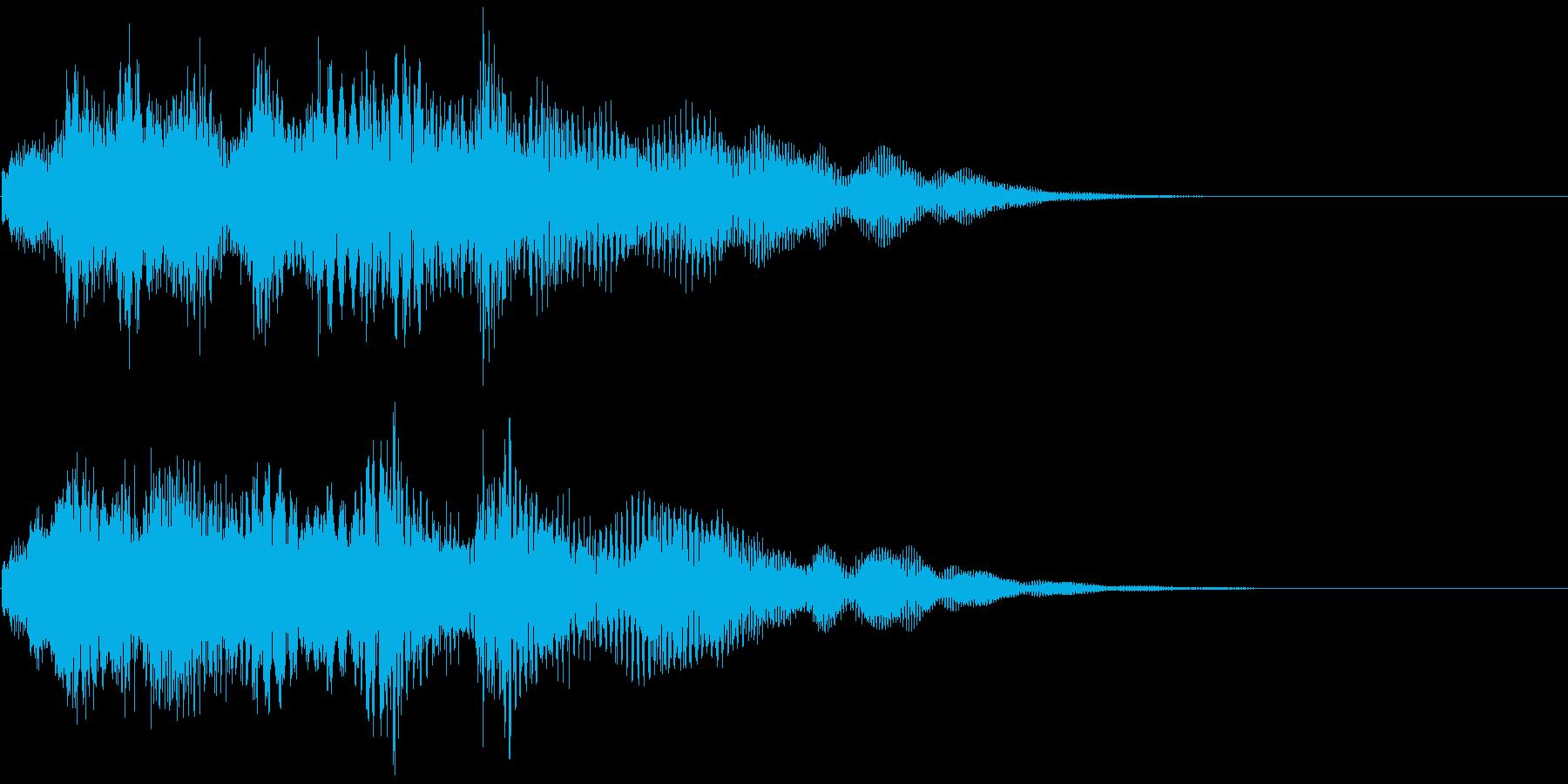 優しいチャイムお知らせタイトル ロゴ音9の再生済みの波形